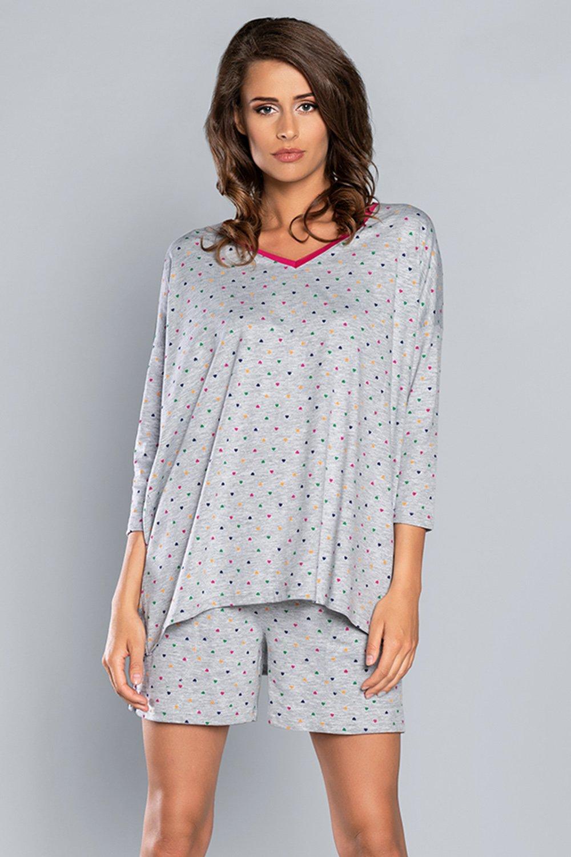 Piżama damska w kropki Italian Fashion OMA R.3/4 KR.SP.