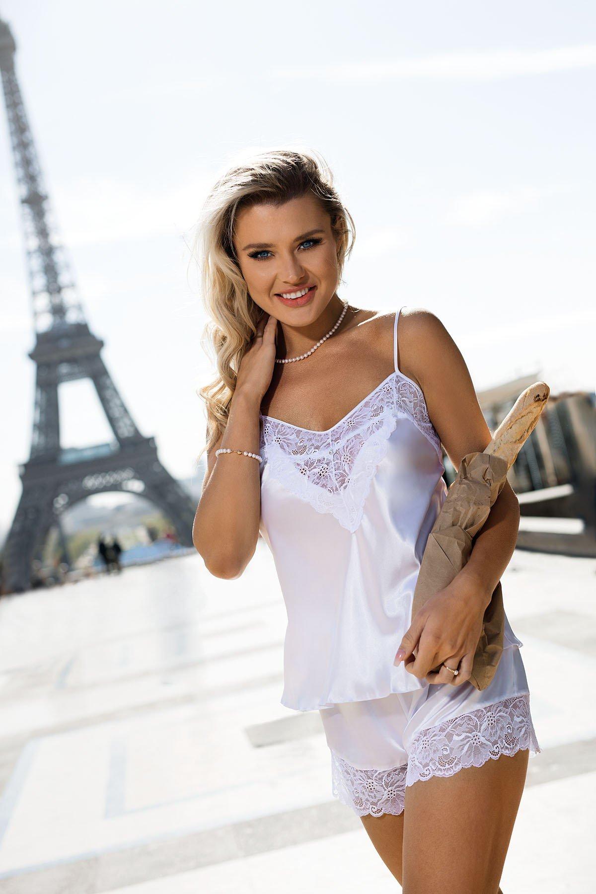 Biała koronkowa piżama Dkaren Cynthia
