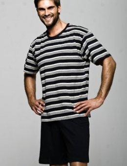 Piżama Męska W Paski KR