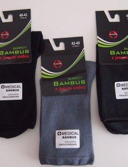 Skarpety Bezuciskowe Bambus AG+