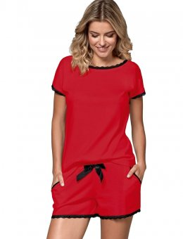 Piżama  Margot Czerwona S-2XL