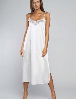 Długa biała koszula nocna  Fashion Dotyk WS.R.