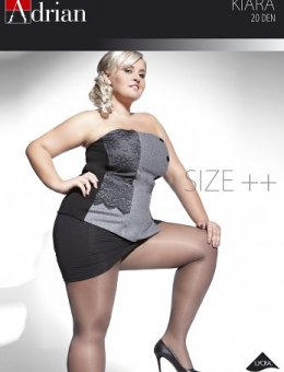 Rajstopy  Kiara Size++ 20 DEN 6-XXL