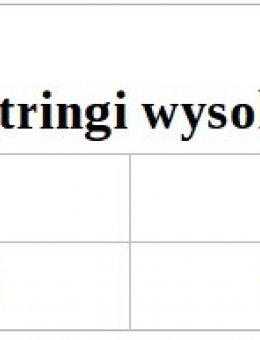Stringi Wysoka Talia 275
