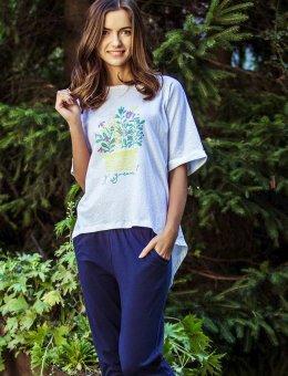 Piżama damska w kwiatki  LHS 055 KR
