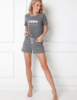 Piżama w sówki Emma Short krótki rękaw