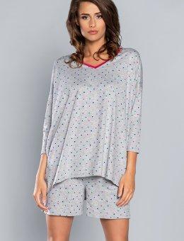 Piżama damska w kropki  Fashion OMA R.3/4 KR.SP.