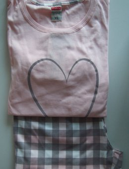 Piżama Damska Serce